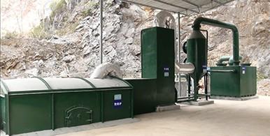 村镇生活垃圾焚烧—矿化处理系统